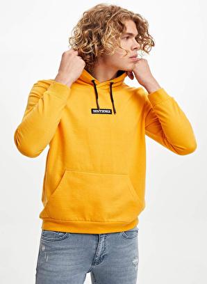DeFacto Kapüşonlu Baskılı Slim Fit Sweatshirt